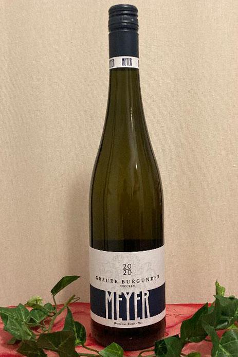 2020 Grauer Burgunder Blaukapsel trocken, Weingut Meyer