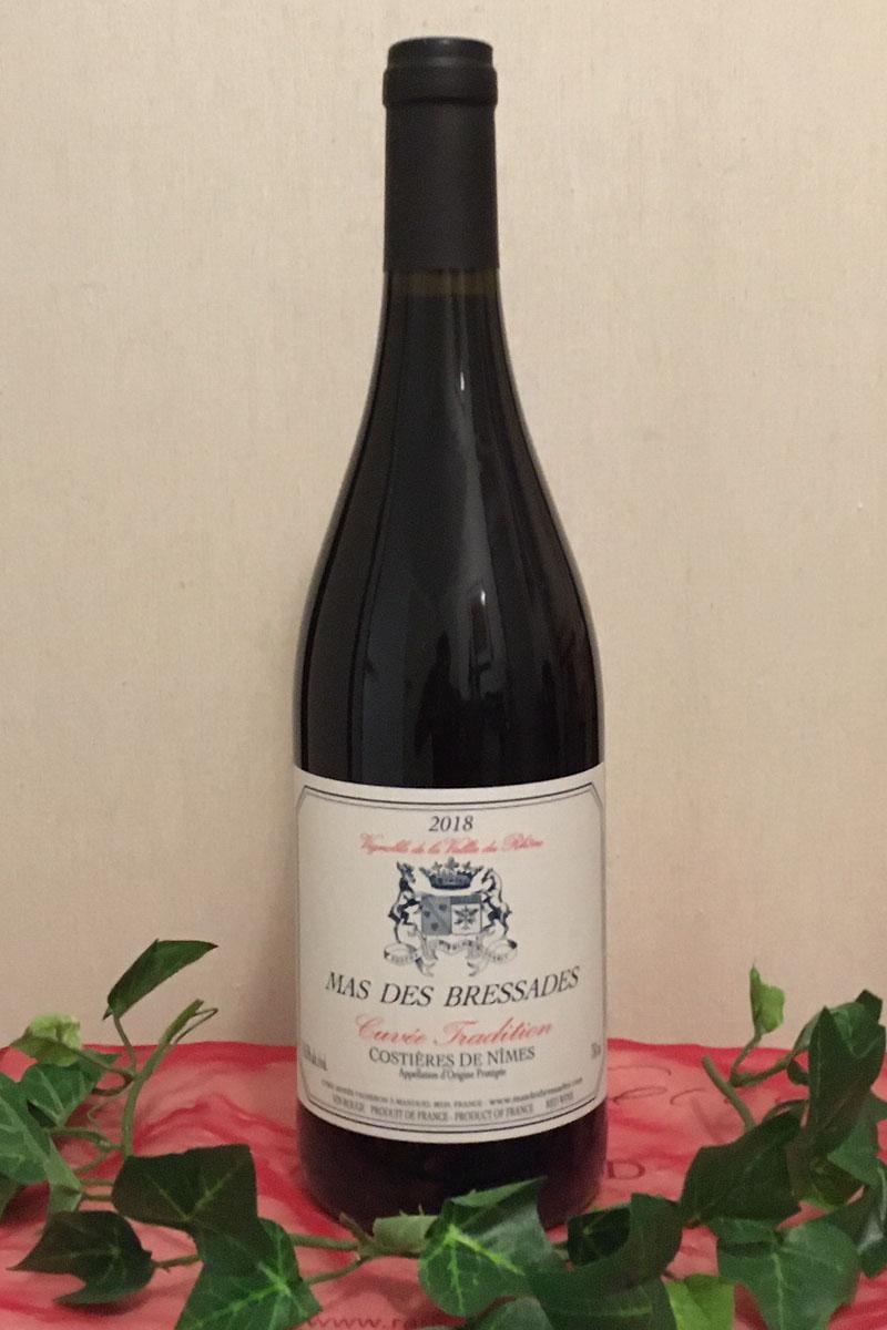 2018 Cuvée Tradition rouge trocken, Mas des Bressades, Costières de Nîmes