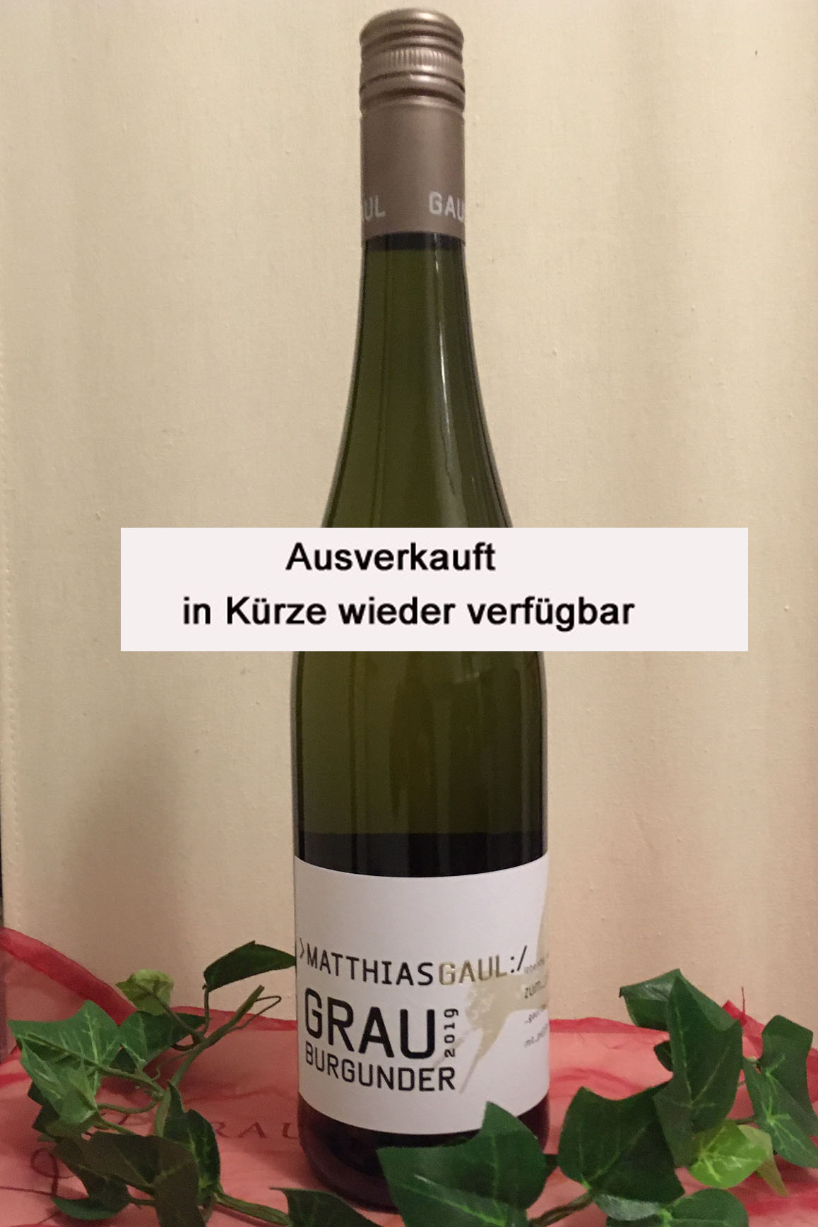 2019 Grauburgunder trocken, Weingut Matthias Gaul, Pfalz